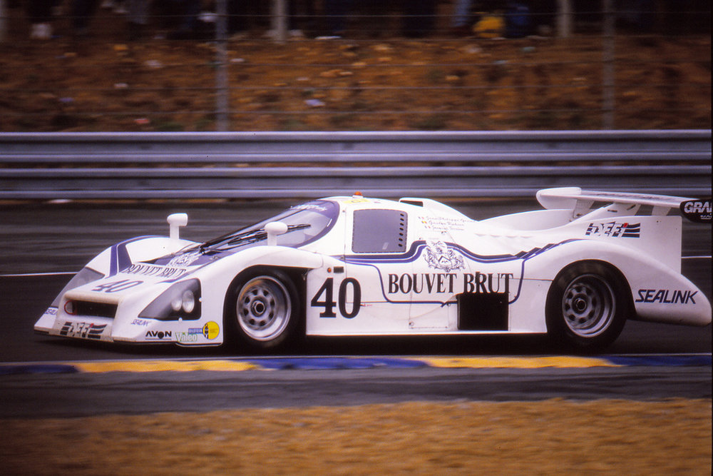 Jean-Philippe Grand (FRA)/Gaston Rahier (FRA)/Jacques Terrien (FRA) in the M482 for the final time, Le Mans 1987
