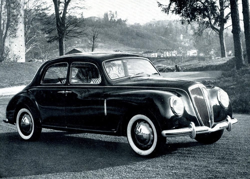 The 1950 Lancia Aurelia remains one of the company's most innovative models.