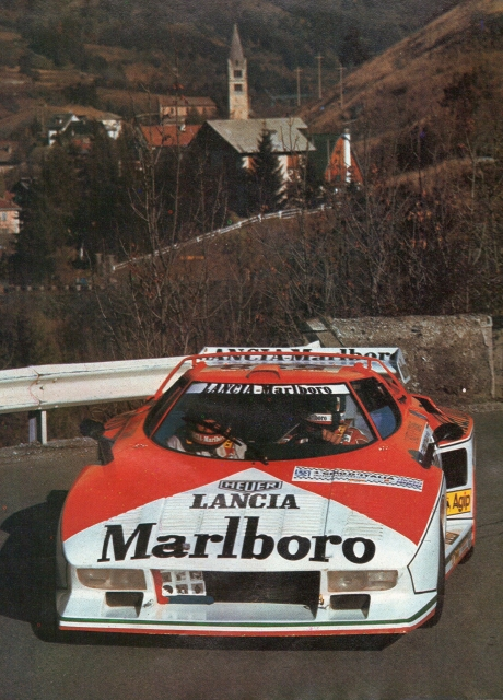 The Stratos Turbo at the 1976 Giro d'Italia.