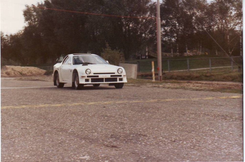 The RX7S during a private test at Eurocircuit Valkenswaard, 1987.