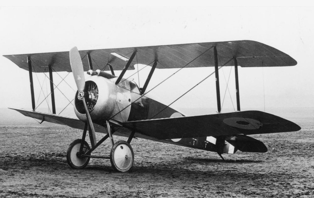 The Sopwith Camel, one of the world's first fighter planes.