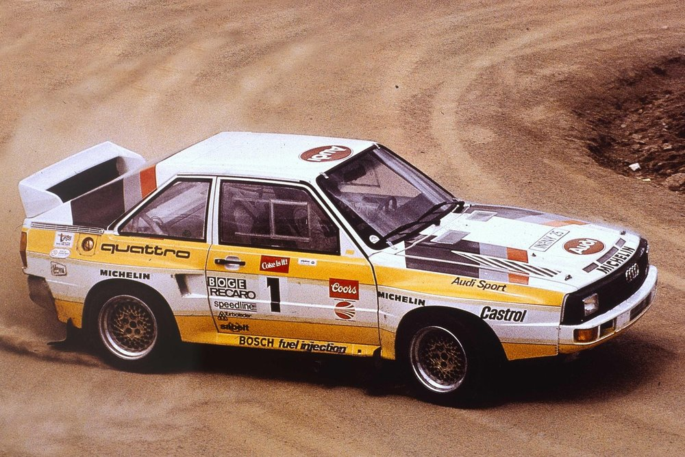 Michele Mouton and her record-breaking Sport quattro S1, Pikes Peak 1985.