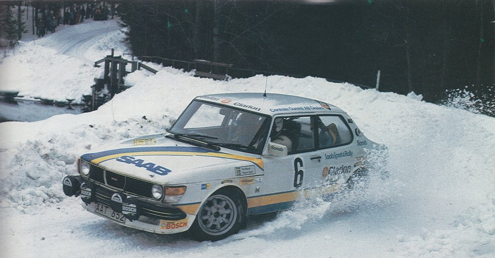 Per Eklund blew away the rallying world with his performance in the Clarion Saab 99 Turbo.