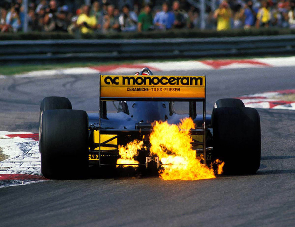 The fiery turbo cars were becoming too fast and too powerful for their own good.