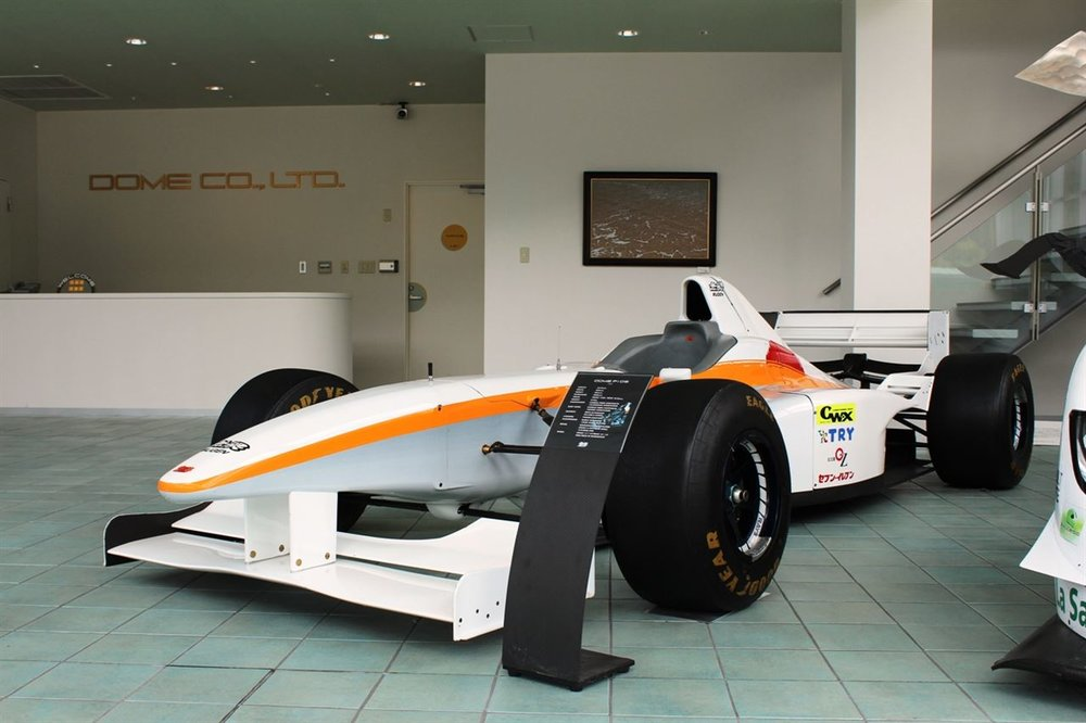 The F105i on display at Dome's headquarters.
