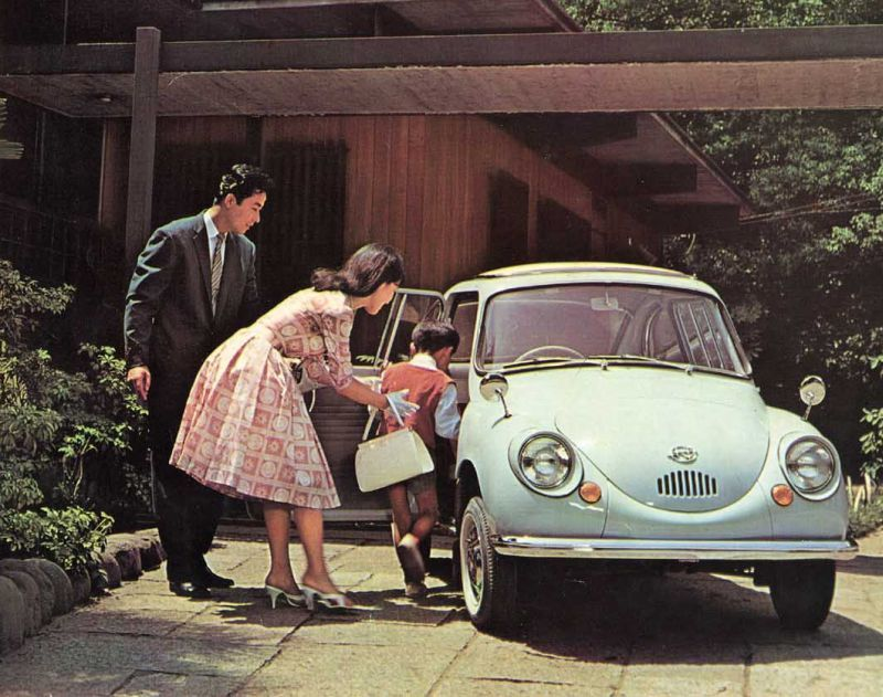 The Subaru 360, the first mass-produced Kei-car.