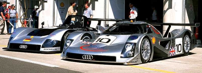 Porsche's rivals Audi were pulling out all the stops by running both an LMP and a GTP car.
