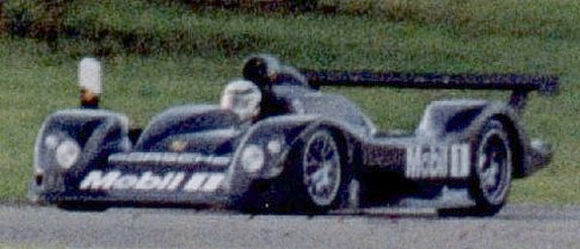 Allan McNish doing a few laps in Porsche's doomed prototype.