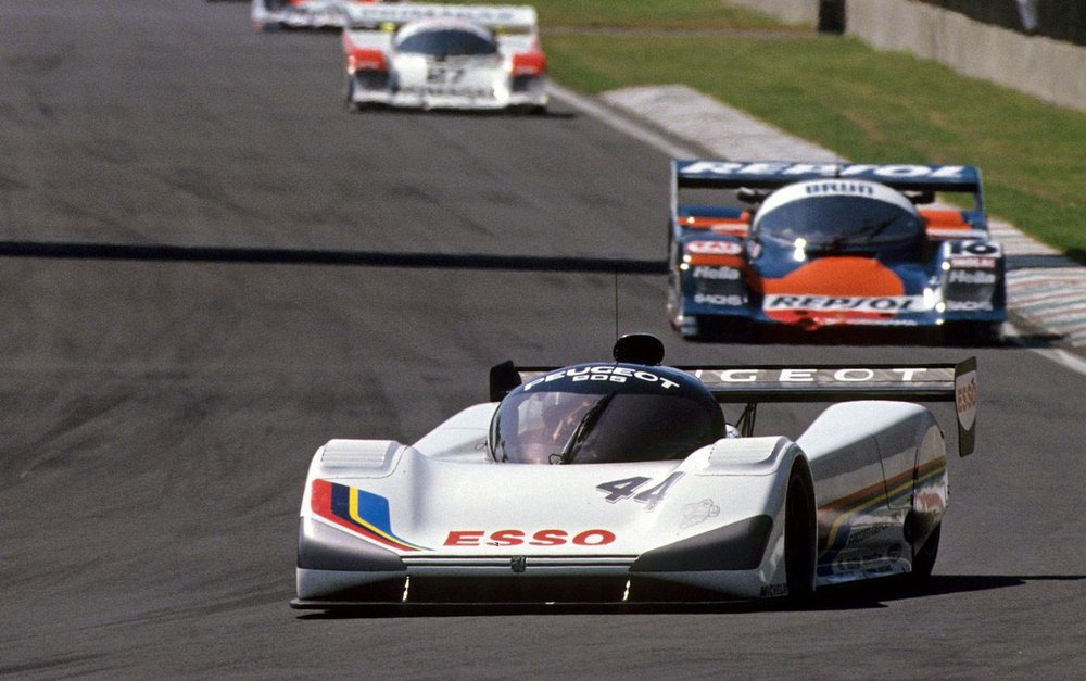 The Peugeot struggled to keep up with the previous generation of Group C monsters.
