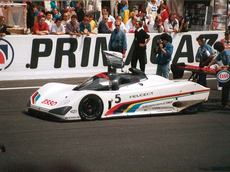 The Peugeots inadvertently headed the field for the 1991 edition of the 24 Hours.