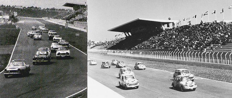 Snapshots from the 1st Japan Grand Prix, Suzuka 1963.