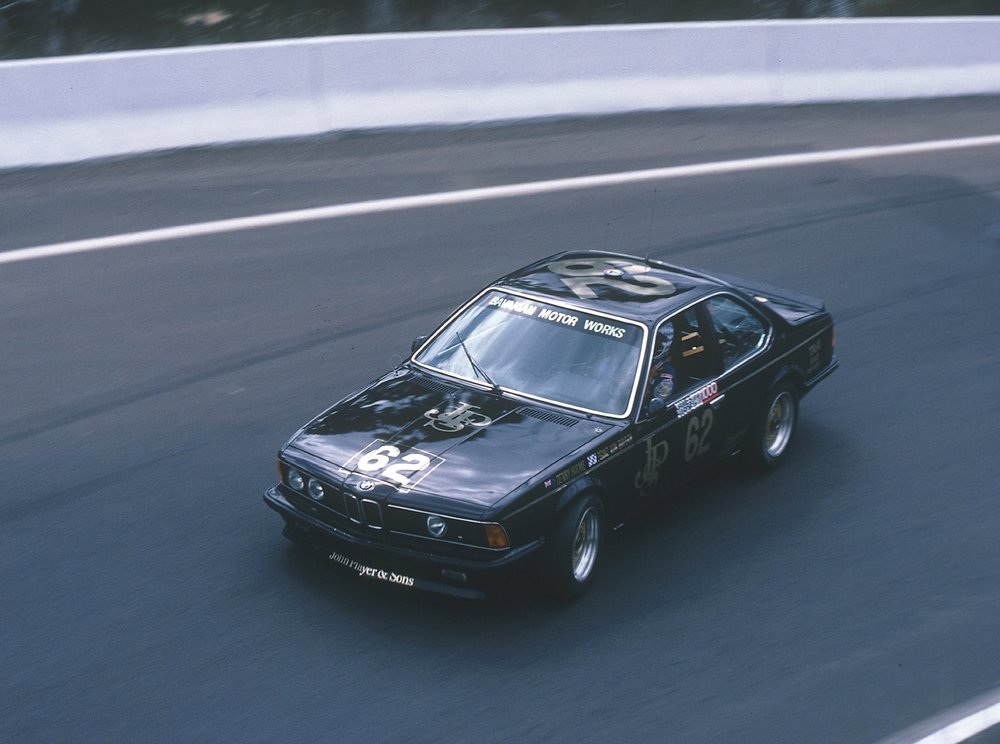 Denny Hulme and Prince Leopold von Bayern testing the Group A version of the 635 CSi, 1984 James Hardie 1000 at Bathurst.