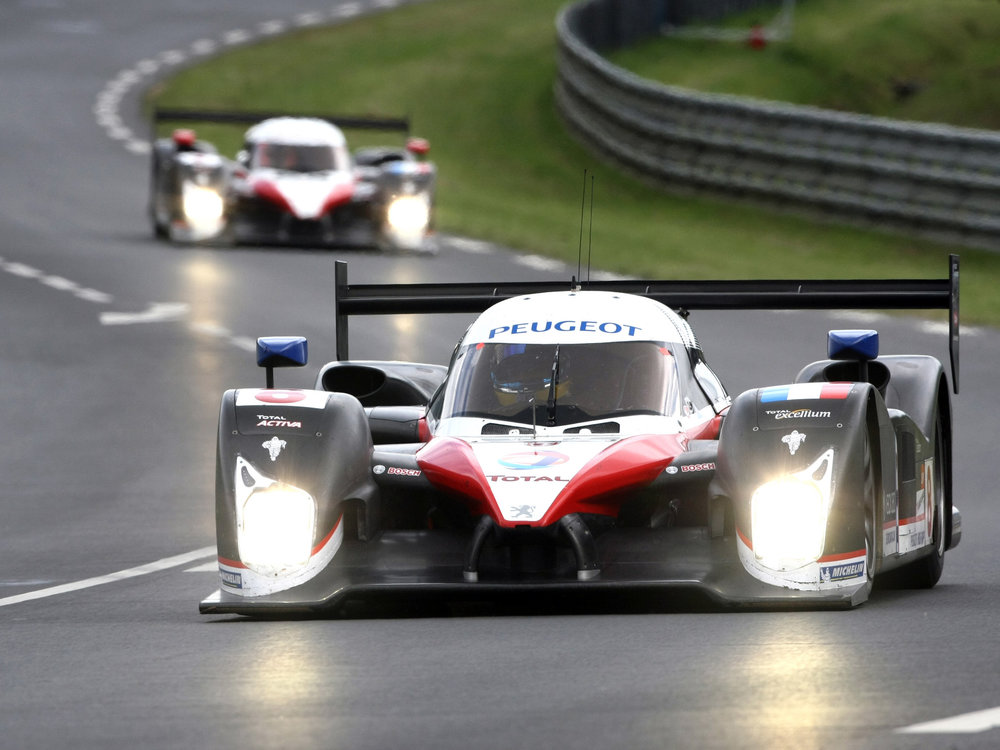 Peugeot confidently beat Audi for outright pace.