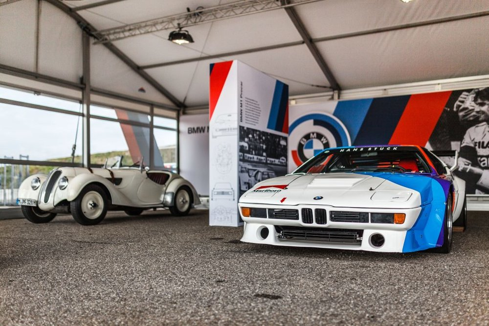 The M1 Procar parked up at BMW's paddock.