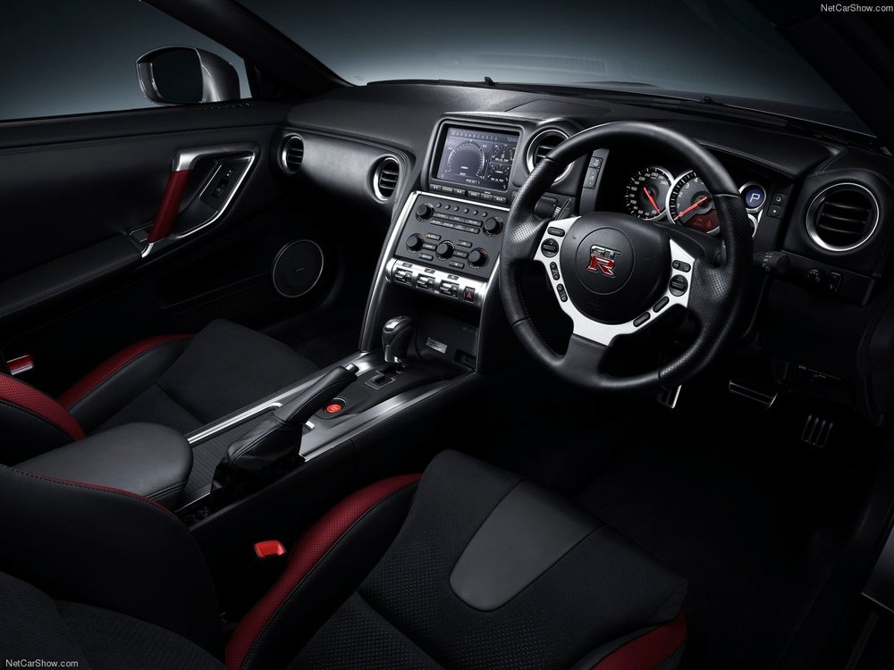 The GT-R's interior is a nice place to be, if a little high tech.