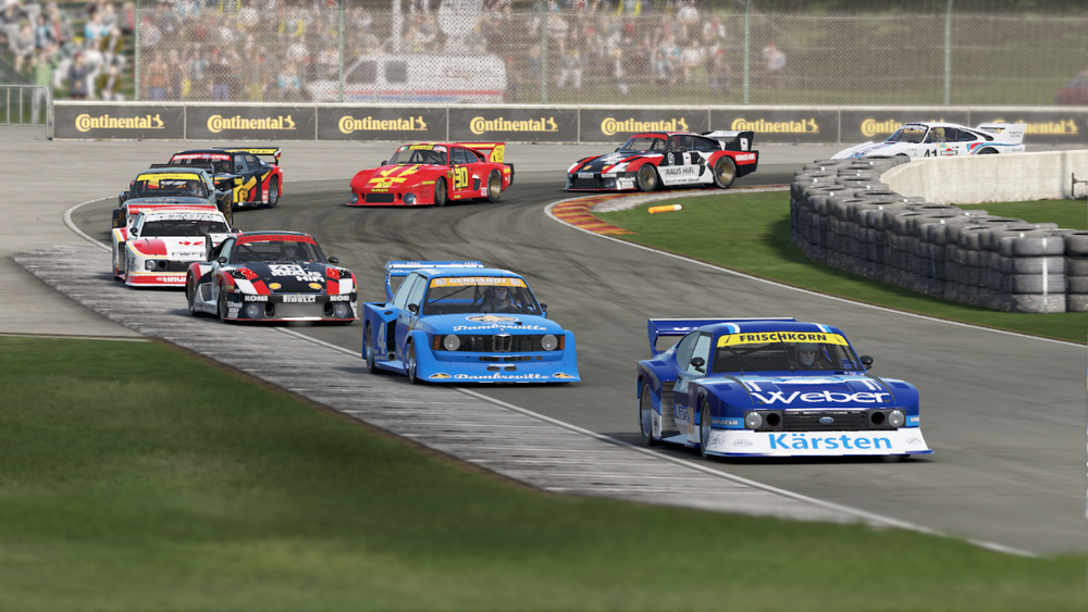 These Group 5 cars have survived the first corner onslaught at Road America.