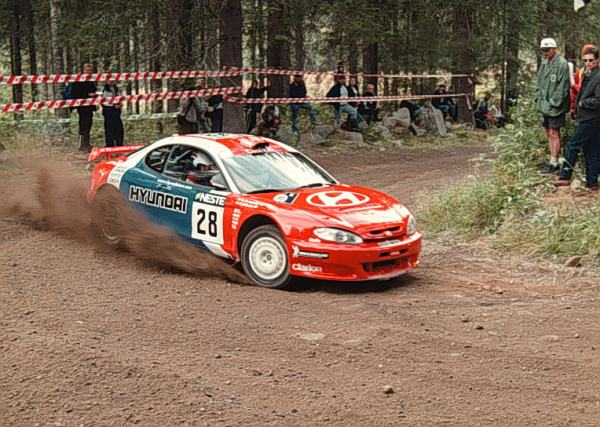 The front wheel drive, naturally aspirated Coupe F2 Kit Car paved the way for Hyundai's WRC program.