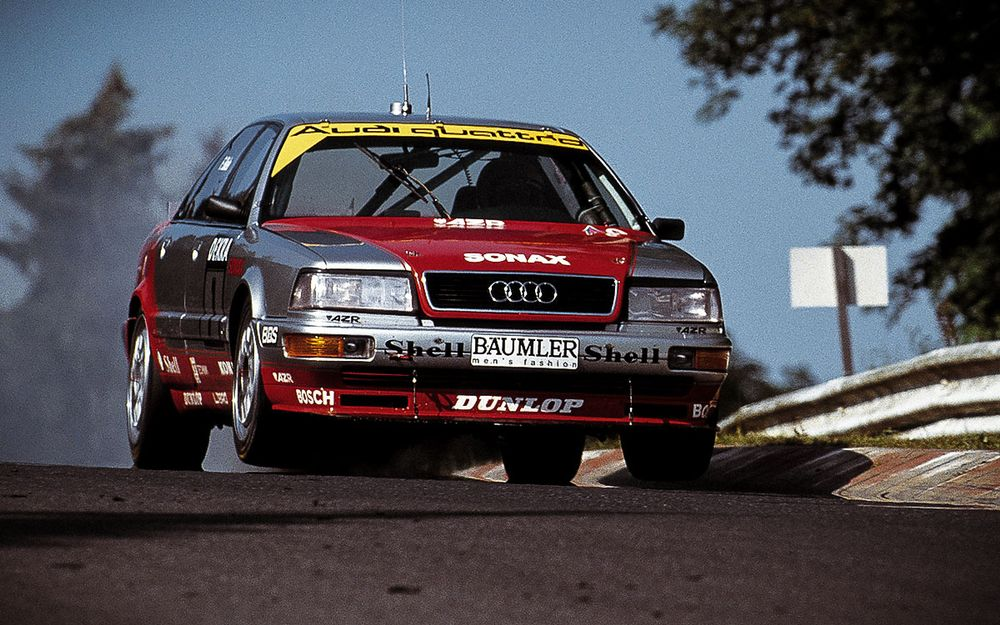 The tyrannical four-wheel drive Audi V8 ended Group A in Germany.