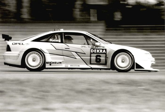 Keke Rosberg testing the Calibra, Hockenheim 1993.