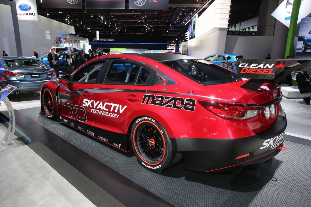 The Mazda 6 Skyactiv-D GX at the 2012 Los Angeles Auto International Show.