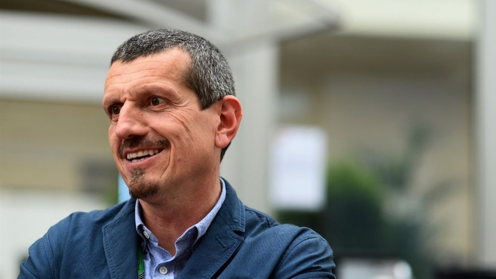 Haas' boss Gunther Steiner seems unfazed about the sponsorship situation at the moment (Pic: Formula One)