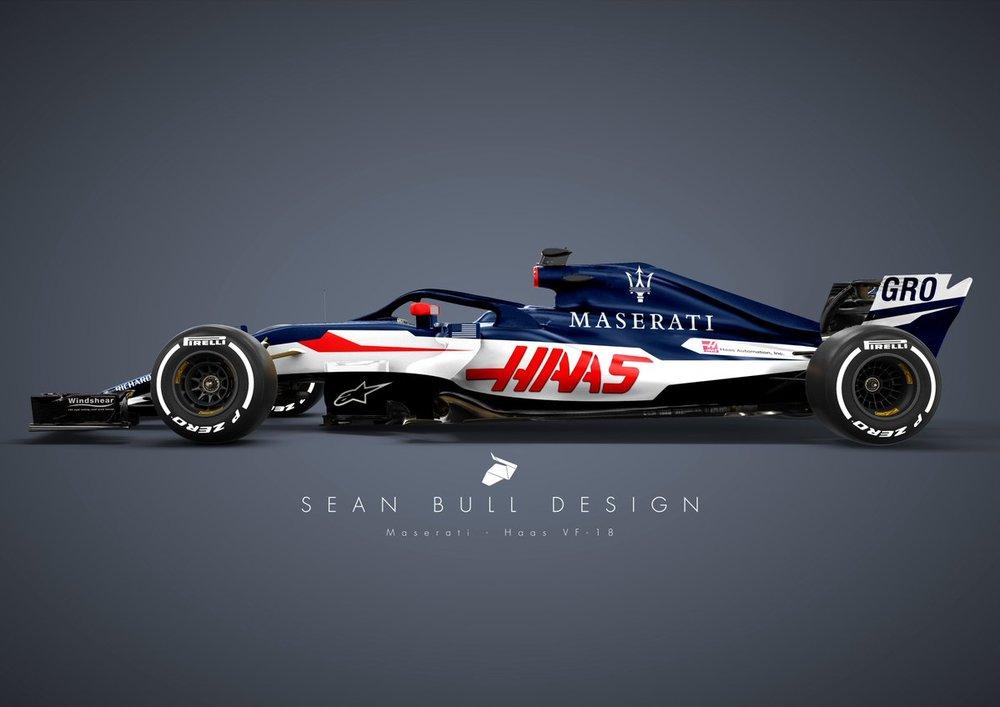 Haas-Maserati 2018 Concept (Designer: Sean Bull Design)