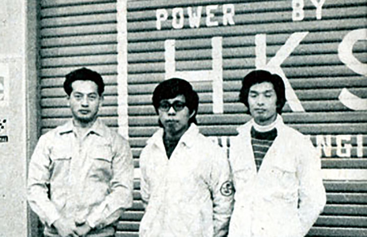 Hiroyuki Hasegawa (middle), founder of HKS.
