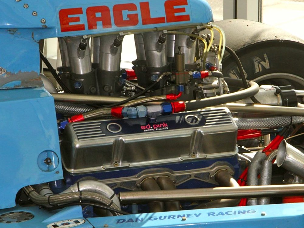 Hamilton secured a very similar engine to the one used by Dan Gurney's front-running AAR Eagle team.