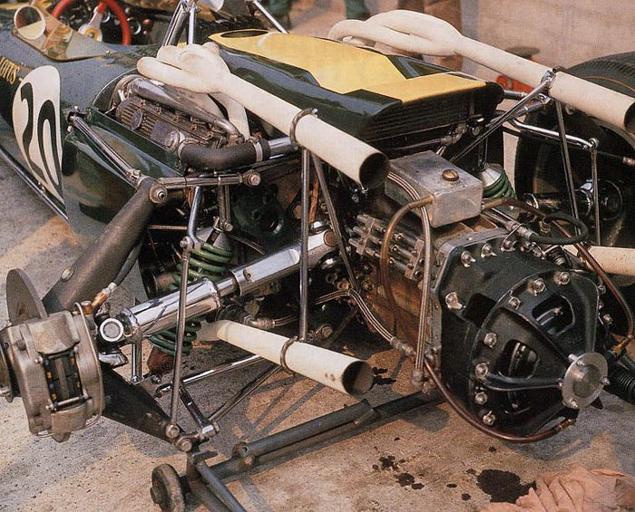 The huge H16 was almost impossible to marry to Chapman's svelte chassis