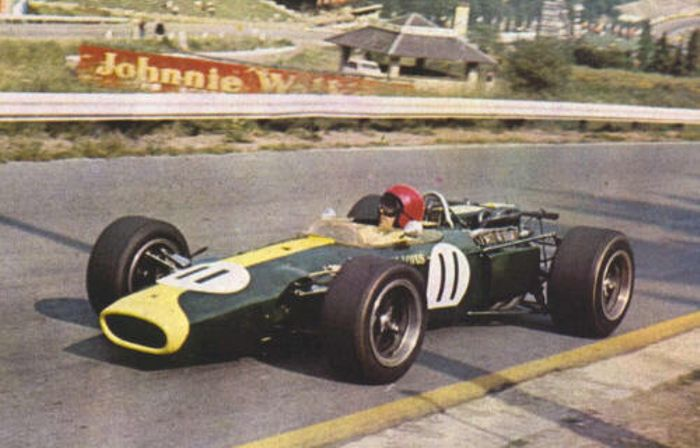 Peter Arundell in practice, 1966 Belgian Grand Prix.