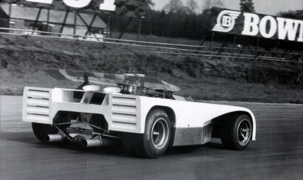 Frank Gardner testing the T260 at Silverstone, 1971.