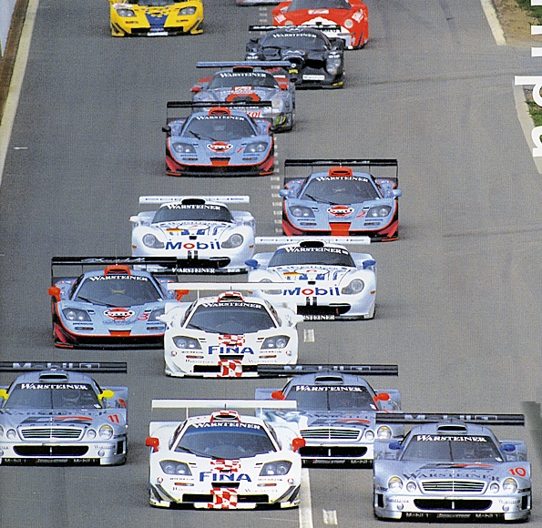 Major manufacturers engaged in a GT1 feeding frenzy in the late 90's.