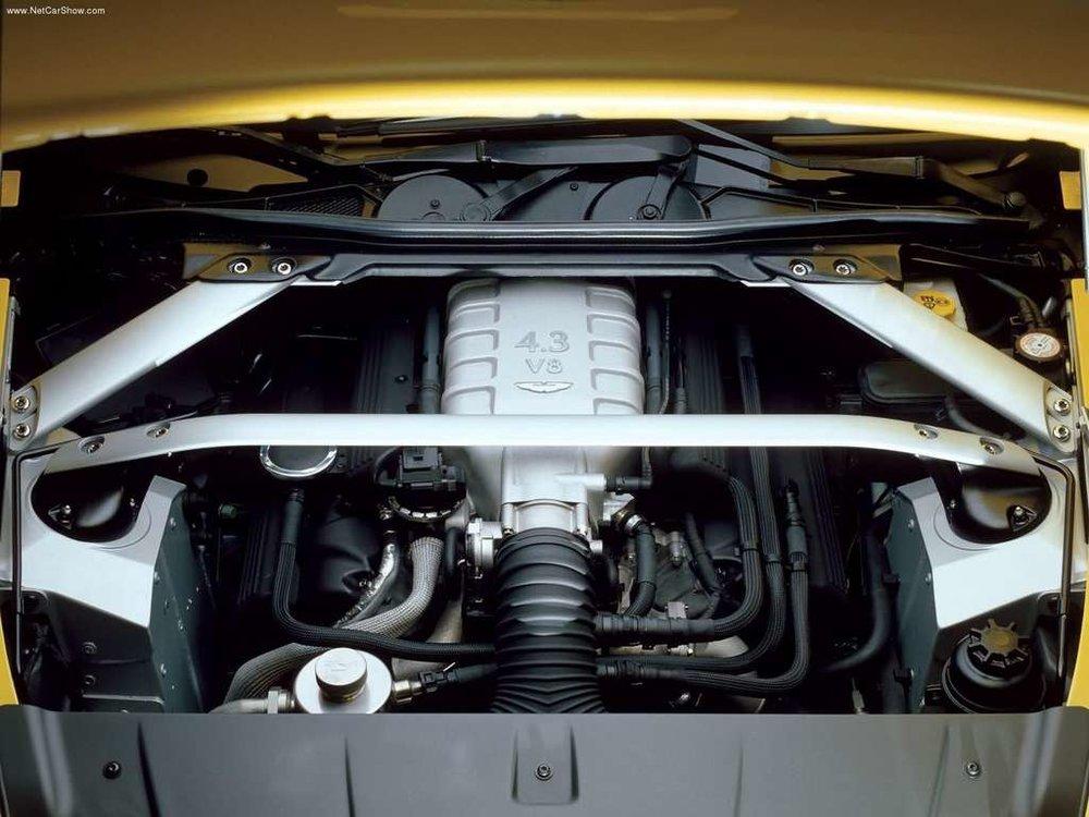 The heart of the V8 Vantage.