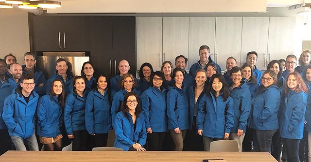 Happy Spring from the Fulcrum team! We're ready for those April showers in our new Fulcrum blue raincoats — nothing can stop us now! #swag #ftx #fulcrumfamily