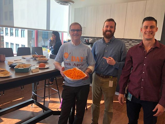 #DYK today is National CheeseBall day? Fun at Fulcrum knows no boundaries 😂 (Sorry for the cheesy post!)