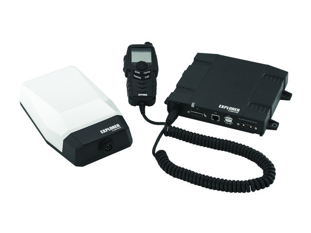 Explorer MSAT-G3 - Combine push-to-talk radio and IP data with GPS tracking.