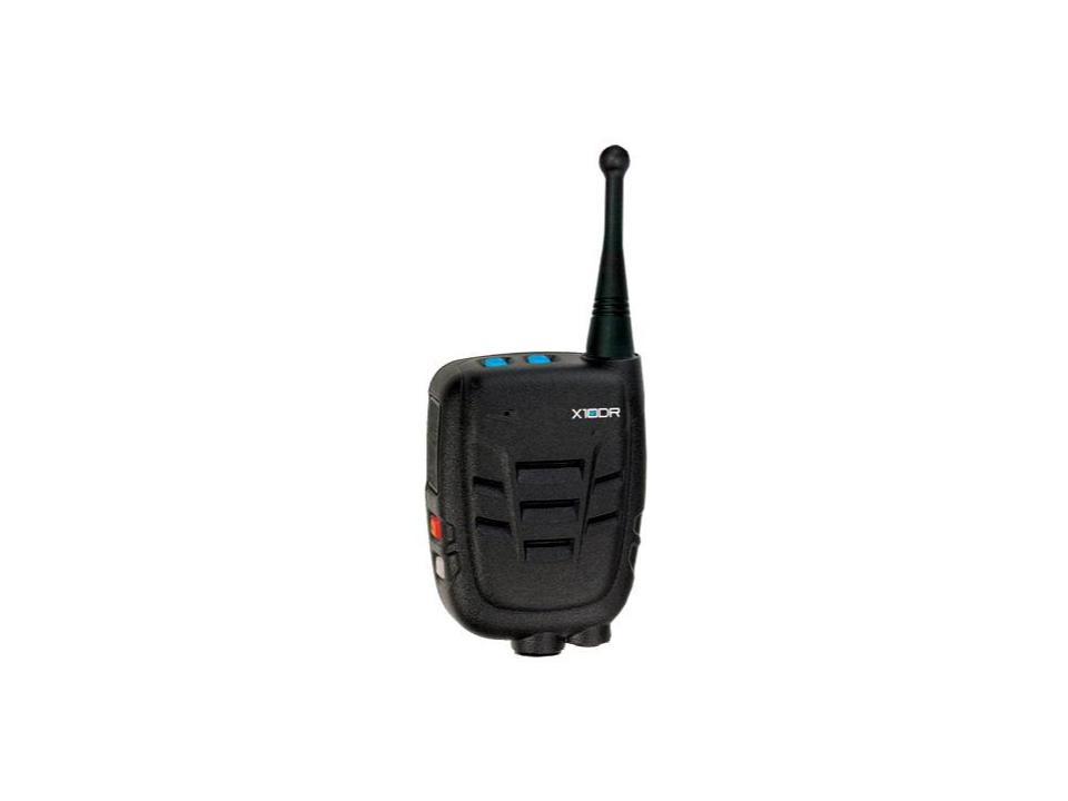 X10DR Wireless Mic - Extending onsite push-to-talk communications, the X10DR wireless mic has a range of 500 meters (1600 feet) and long battery life.