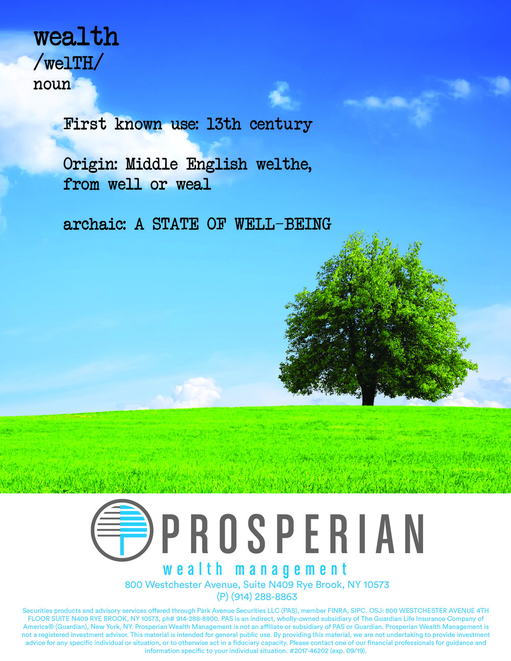 Prosperian Wealth Management Ad