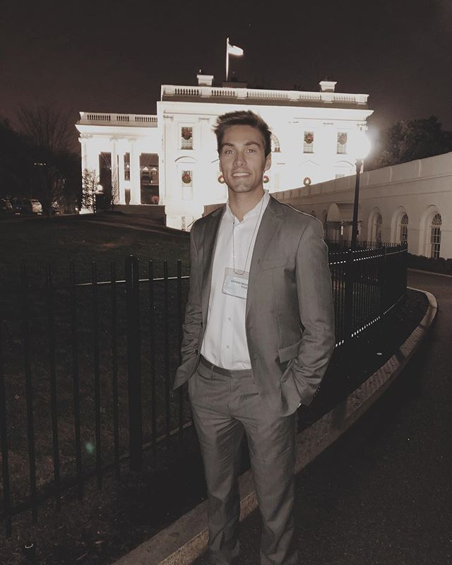 Trying to not look like a tourist while touring the White House. I failed.