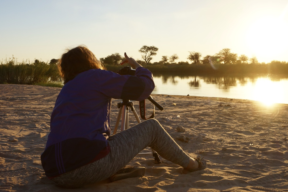 Filming the sunset