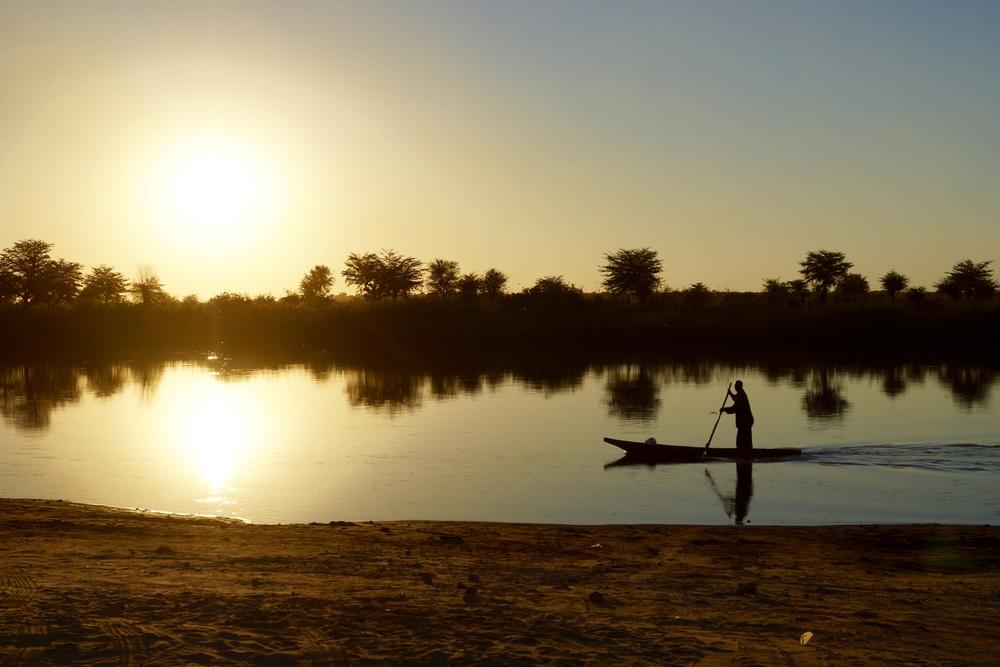 Sunset over Angola