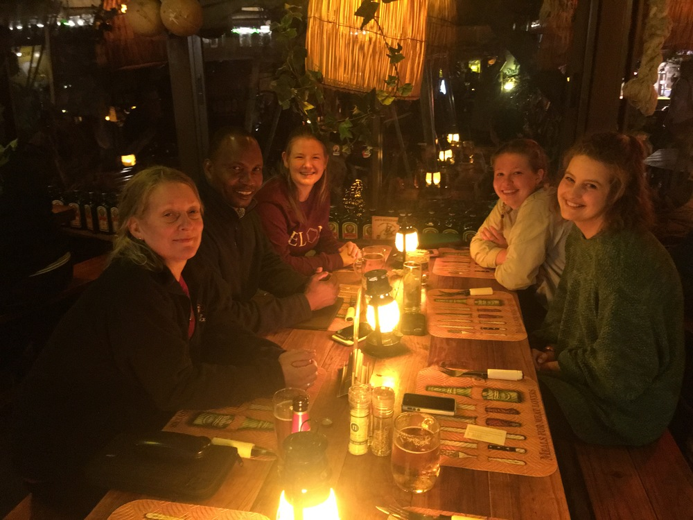 One of our final dinners at Joe's Beer House in Windhoek.
