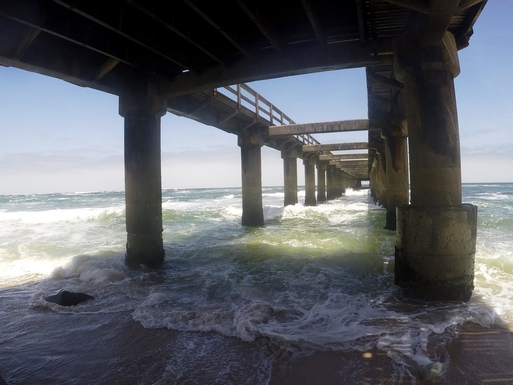 Under the pier in Swakopmund.