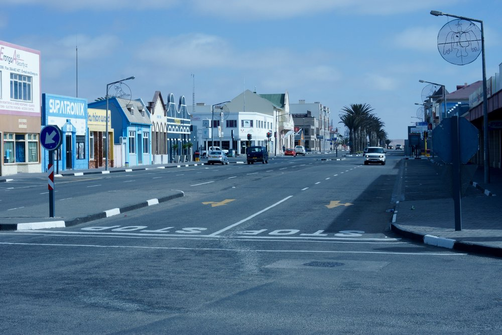 The town of Swakopmund.