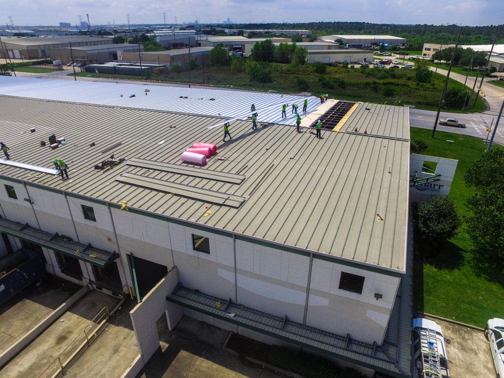 "Amarr Garage, Fort Worth | Metal Replacement on 3"" Trapezoidal Metal Panel"