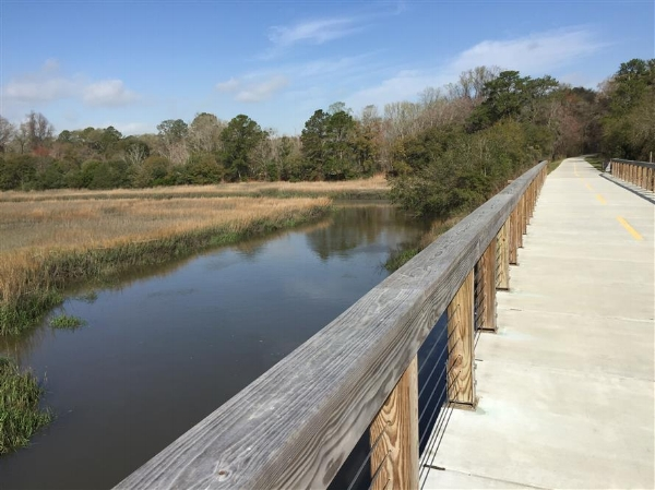 Spanish Moss Trail in Beaufort, SC, photo courtesy of traillink.com