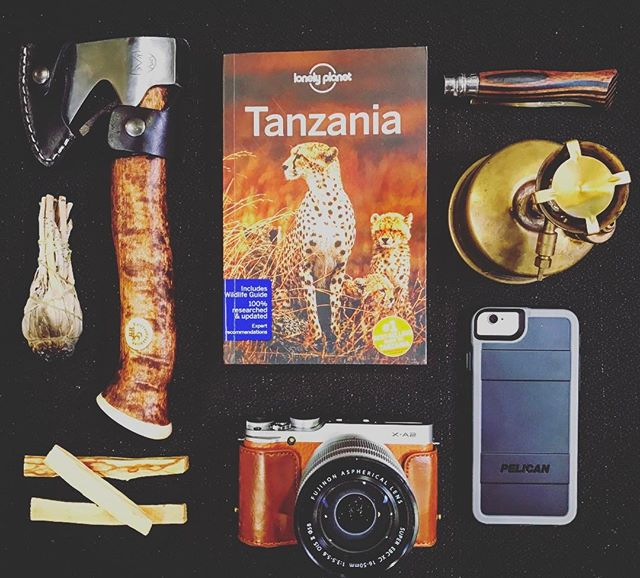 A few safari production essentials on a photo shoot with @nomadcouture