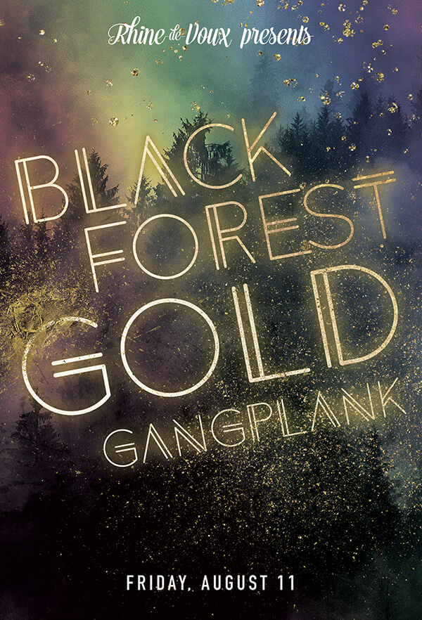 Black & Gold Party Graphic