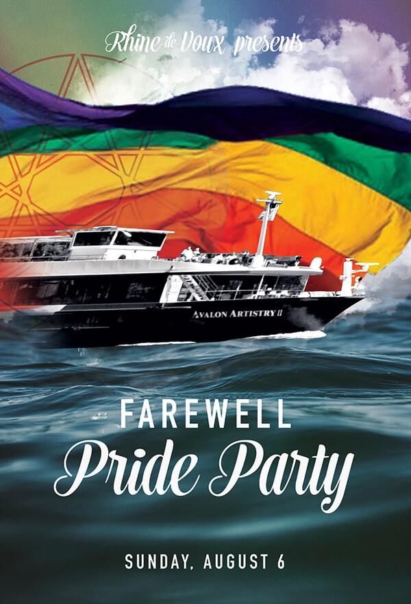 Farewell Pride Party Graphic
