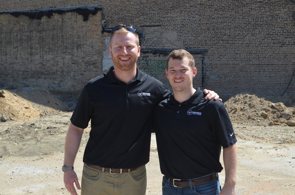 Project Managers Steve Browne and Brett Currens at Elevation Lofts.